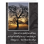 Medical Arts Press® Sympathy Greeting Cards; Tree Grieve,  Personalized