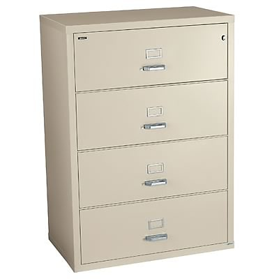 Quill Brand® Fireproof 31-Wide Lateral File; 4-Drawer, Sand