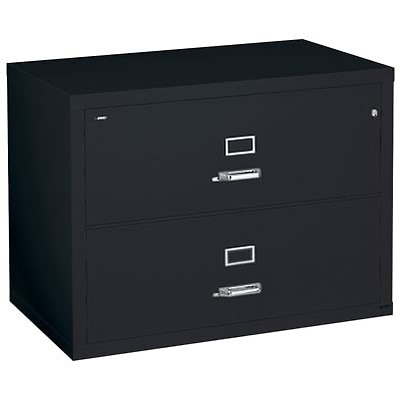 Quill Brand® Fireproof 31-Wide Lateral File; 2-Drawer, Black