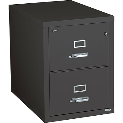 Quill Brand® Fireproof 31-Deep Vertical File; 2-Drawer, Legal-Size, Black