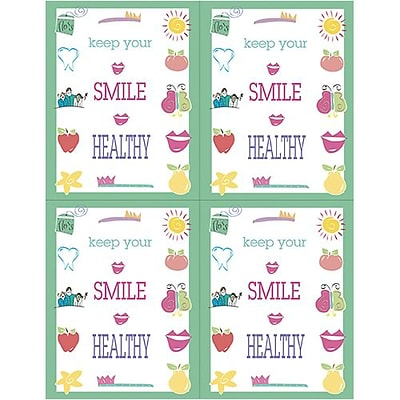 Medical Arts Press® Dental Laser Postcards; Keep Your Smile Healthy