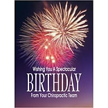 Medical Arts Press® Chiropractic Standard 4x6 Postcards; Fireworks Birthday