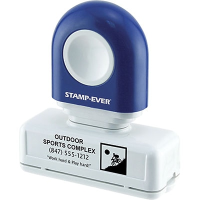 Premium Pre-Inked 3/4x2-3/8 Medium Message Stamp, Up to 5 Lines