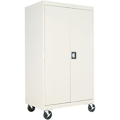 Alera® Steel Storage Cabinet; Non-Assembled, 66Hx36Wx24D, Putty