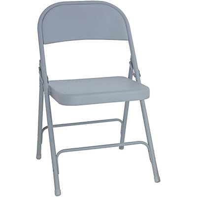 Alera™ Steel Folding Chairs with Brace Supports, Grey