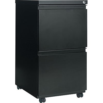 Alera™ Mobile File Pedestals with Full-Length Pulls, 2-Drawer, 19-1/4D, Black