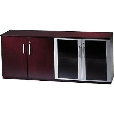 Mayline® Corsica Collection In Mahogany; Low Wall Cabinet