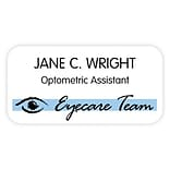 Medical Arts Press® Two Color Eye Care Name Badges; Eye Care Team