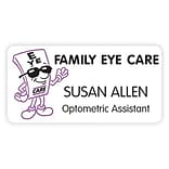 Custom Printed Medical Arts Press® Two Color Eye Care Name Badges; Family Eye Care