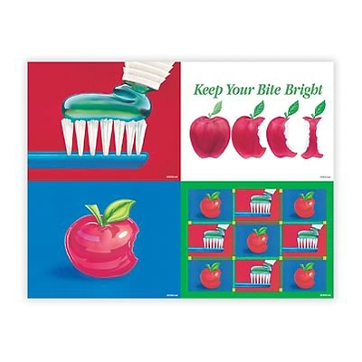 Medical Arts Press® Assorted Laser Postcards; Apple Assortment