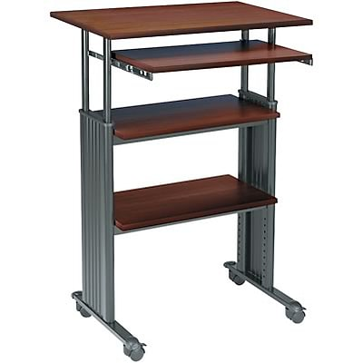 Safco® Adjustable-Height Stand-Up Workstations; Cherry/Black