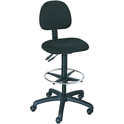 Safco® Trenton Multi-Task Swivel Stools With Spring Action Back; Black