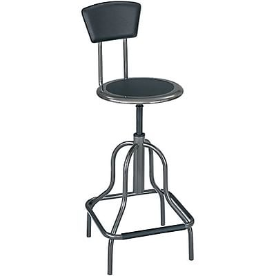 Safco® Diesel™ Industrial Stools with Back; High Base