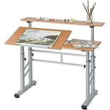 Safco® Adjustable Split Level Workstation