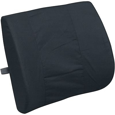 Standard Lumbar Cushion with Strap, Black