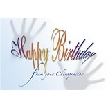 Medical Arts Press® Chiropractic Standard 4x6 Postcards; Happy Birthday