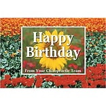 Medical Arts Press® Chiropractic Standard 4x6 Postcards; Happy Birthday, Flowers