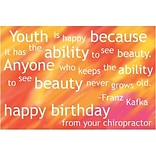 Medical Arts Press® Chiropractic Standard 4x6 Postcards; Birthday, Youth is Happy