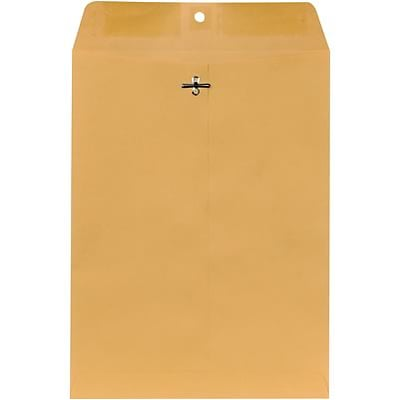 Quill Brand® Clasp Catalog Envelope, 9 x 12, Kraft, 100/Box (7CL91228)