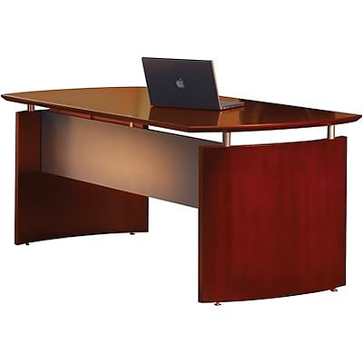 Mayline® Napoli Collection In Sierra Cherry; Desk, 72W x 36D