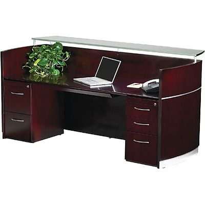 Mayline® Napoli Collection In Mahogany; Reception Station