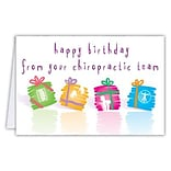Medical Arts Press® Chiropractic Birthday Cards; Colorful Presents,  Blank Inside