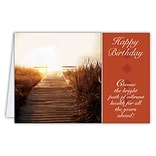 Medical Arts Press® Chiropractic Birthday Cards; Bright Path,  Blank Inside