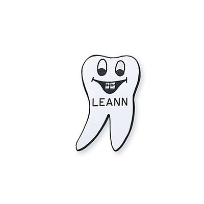 Medical Arts Press® Dental Designer Name Badges; Tooth with Braces