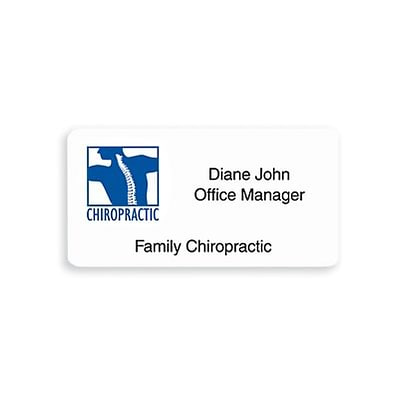 Medical Arts Press® Professional Name Badges; 2-3/4x1-3/8, Bright White