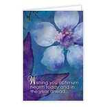 Medical Arts Press® Chiropractic Birthday Cards; Optimum Health,   Blank Inside