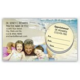 Medical Arts Press® Dual-Imprint Peel-Off Sticker Appointment Cards; Family on Beach