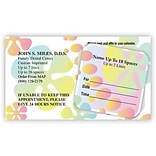 Medical Arts Press® Dual-Imprint Peel-Off Sticker Appointment Cards; Groovy