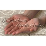 Medical Arts Press® Chiropractic Recycled Business/Appointment Cards; Gentle Hands
