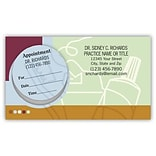 Price Wise® Peel-Off-Sticker Appointment Cards; Toothbrush/Paste/Floss with Techno Background