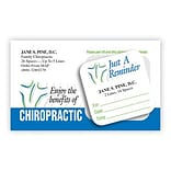 Medical Arts Press® Dual-Imprint Peel-Off Sticker Appointment Cards; Back Logo