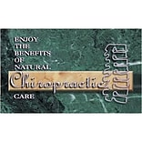 Medical Arts Press® Chiropractic Business/Appointment Cards; Green Marble w/Spine