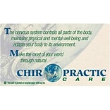Medical Arts Press® Chiropractic Recycled Business/Appointment Cards; Make Most