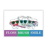 Medical Arts Press® Dental Business/Appointment Cards; Toothguy, Brush, Floss