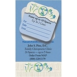 Medical Arts Press® Dual-Imprint Peel-Off Sticker Appointment Cards; Chiro Icons