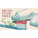 Medical Arts Press® Dental Recycled Business/Appointment Cards; Brush/Floss/Smile