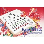 Medical Arts Press® Eye Care Standard 4x6 Postcards; Eyechart Birthday Cake