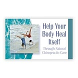 Medical Arts Press® Chiropractic Business/Appointment Cards; Handstand/Beach