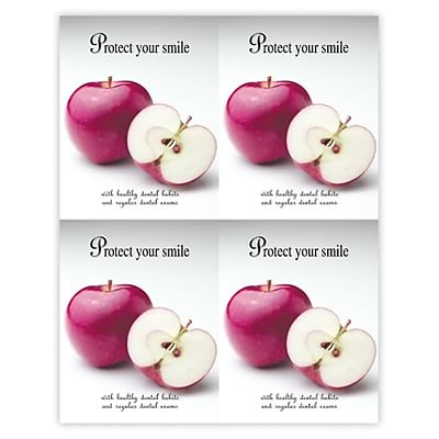 Medical Arts Press® Dental Laser Postcards; Smile-Apple