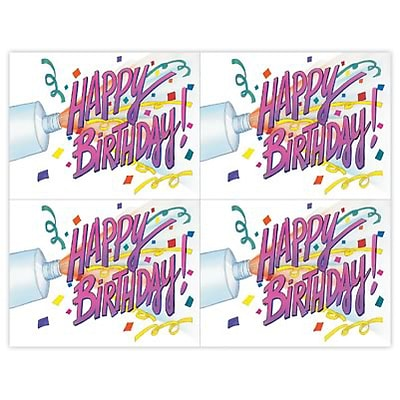Medical Arts Press® Dental Laser Postcards; Birthday Confetti