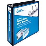 Quill Brand Round Black 2 Ring View Binder