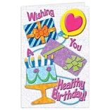 Medical Arts Press® Birthday Greeting Cards; Wishing You A Healthy Birthday,  Blank Inside