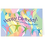Medical Arts Press® Chiropractic Birthday Cards; Happy Birthday from Chiropractic Team, Blank Inside