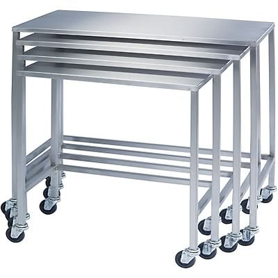 Stainless Steel Nesting Work Tables; Set of All 6