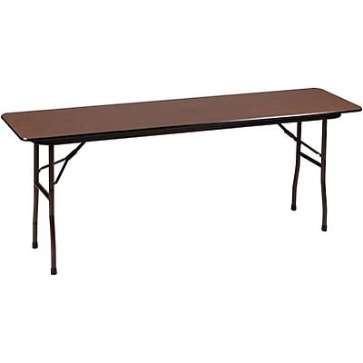 Correll® 18D x 72L Folding table; Walnut Melamine Laminate Top