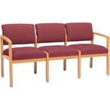 Lesro Lenox Modular Reception Collection in Deluxe Fabric; 3-Seat Sofa